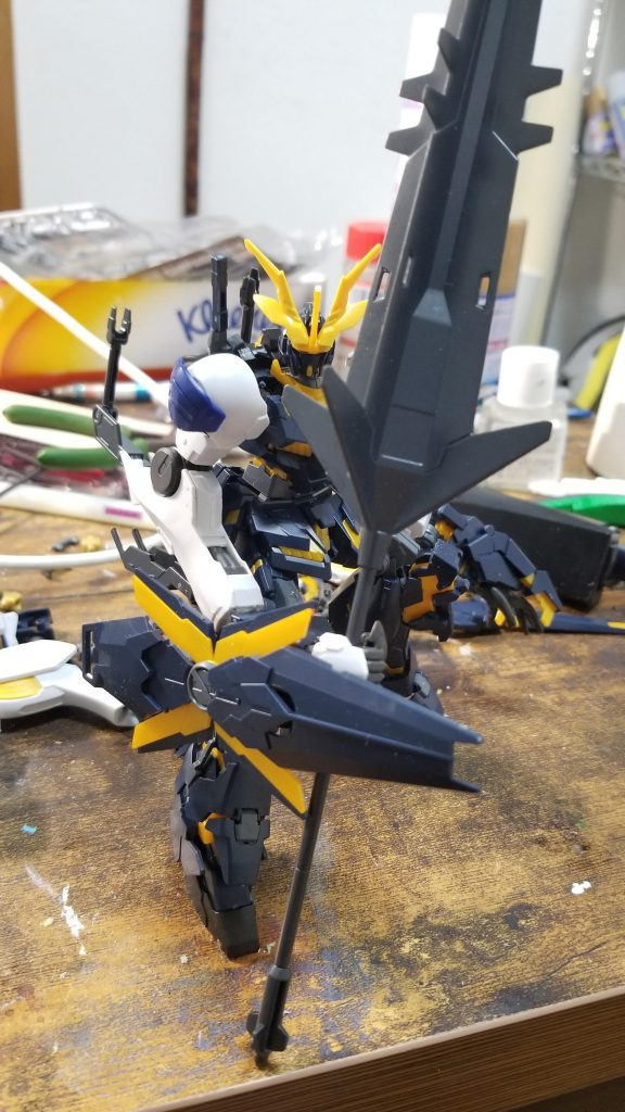 RX-0-4 ユニコーンガンダム4号機 フェンリル 制作工程2