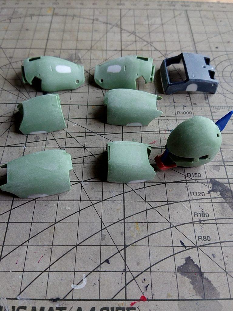 MG1/100 MS-05S シャア専用ザク ver2.0 制作工程2