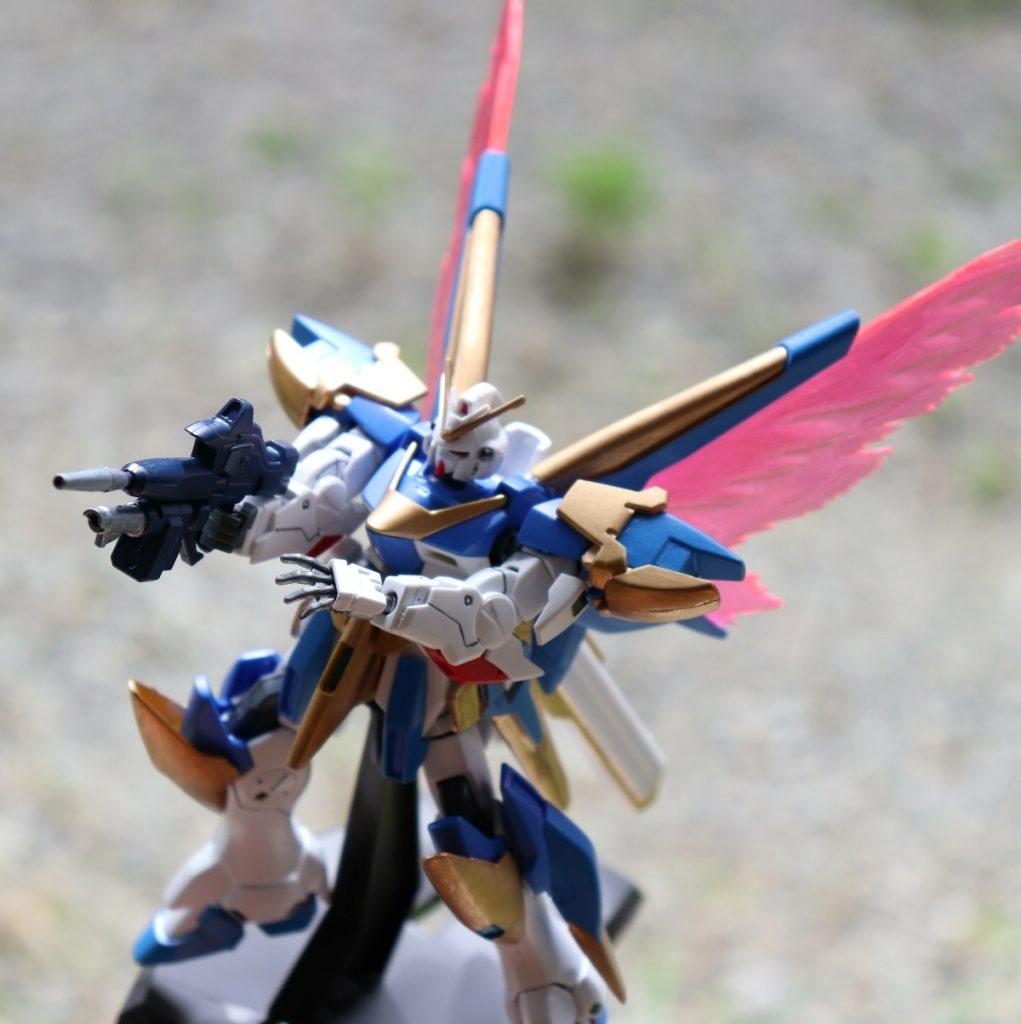 HGUCアサルトバスター、光の翼(´ω`) アピールショット1