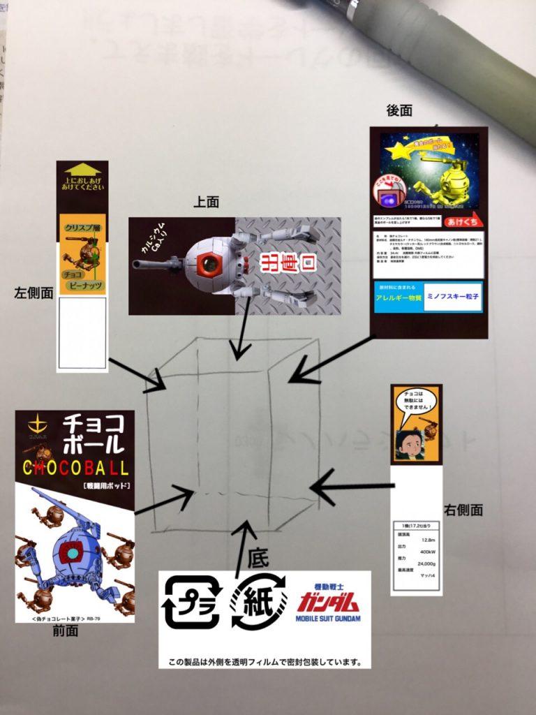 チョコボール[戦闘用ポッド](再) 制作工程1