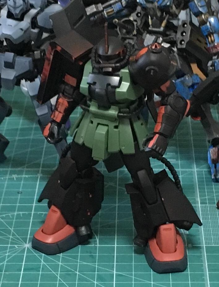 ジョニーライデン少佐専用高機動型ザク 制作工程1
