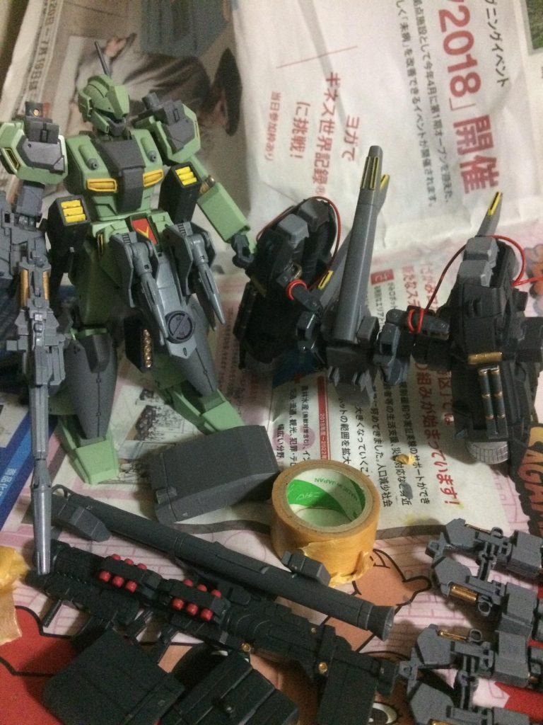 フルアーマー・スタークジェガン 制作工程6