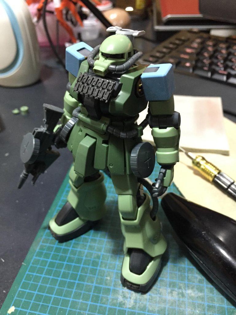 大洗女子ザクF2改H型(戦車道ガンプラ) 制作工程3