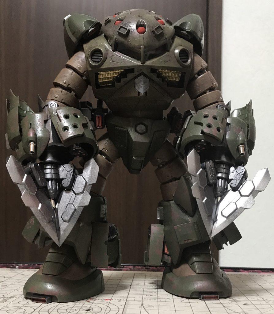 ズゴック改(陸戦強化型) 制作工程5