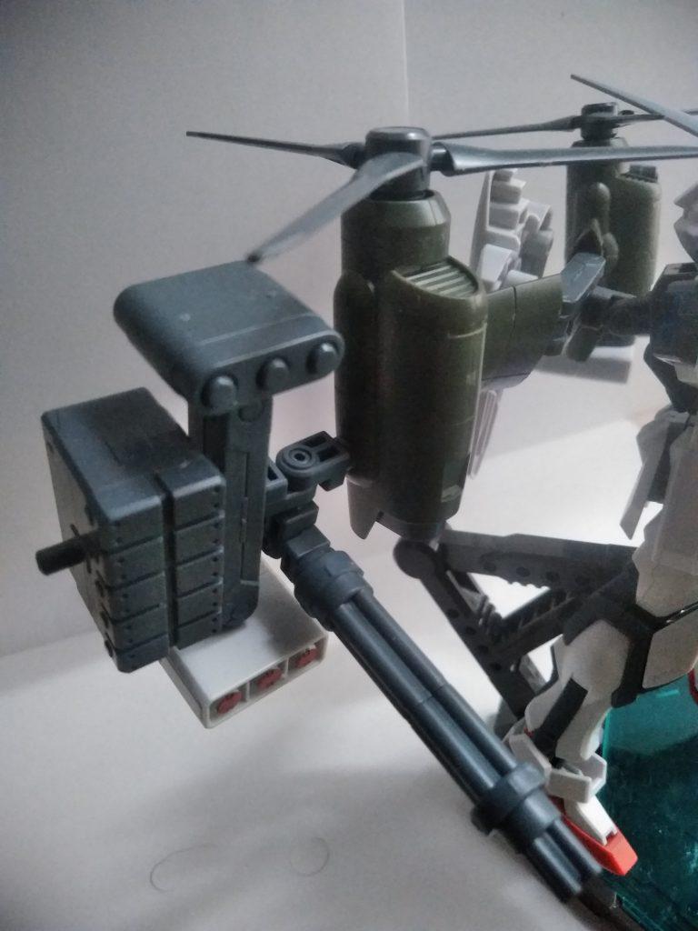 そして火器ですが、ガトリングとミサイルで制圧性を高め、強襲時の撃破成功率を底上げする仕様になっています。