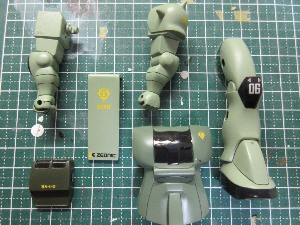 ベストメカコレクション 量産型ザク 【再投稿】 制作工程4