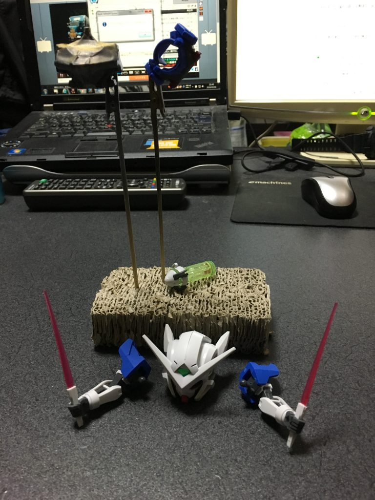 BB戦士ガンダムエクシア奇形 制作工程1
