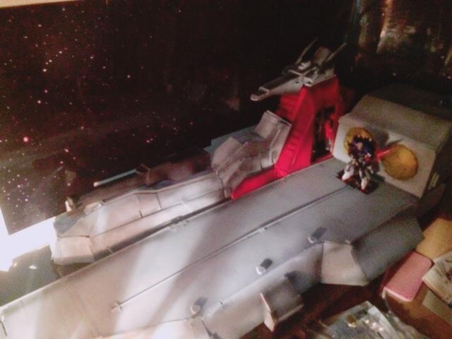 【ジオラマ】機動戦士Zガンダム アーガマ 「モビルスーツ戦」 アピールショット1
