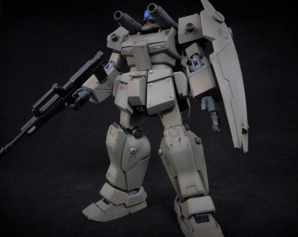GM CANNONⅡcovered with dust