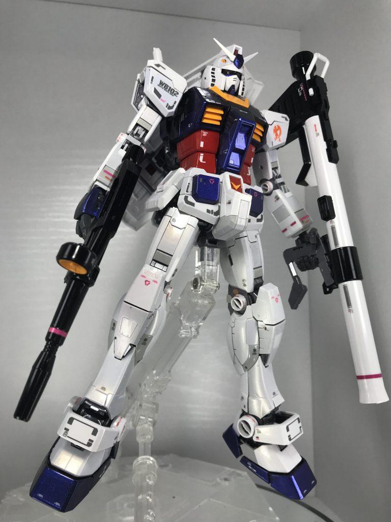 MG RX-78-2 ガンダム ver.3.0 パールとプリズム塗装仕上げ