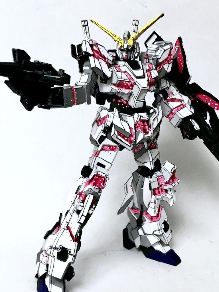 1/144 RX-0 ユニコーンガンダム デストロイモード イラスト風