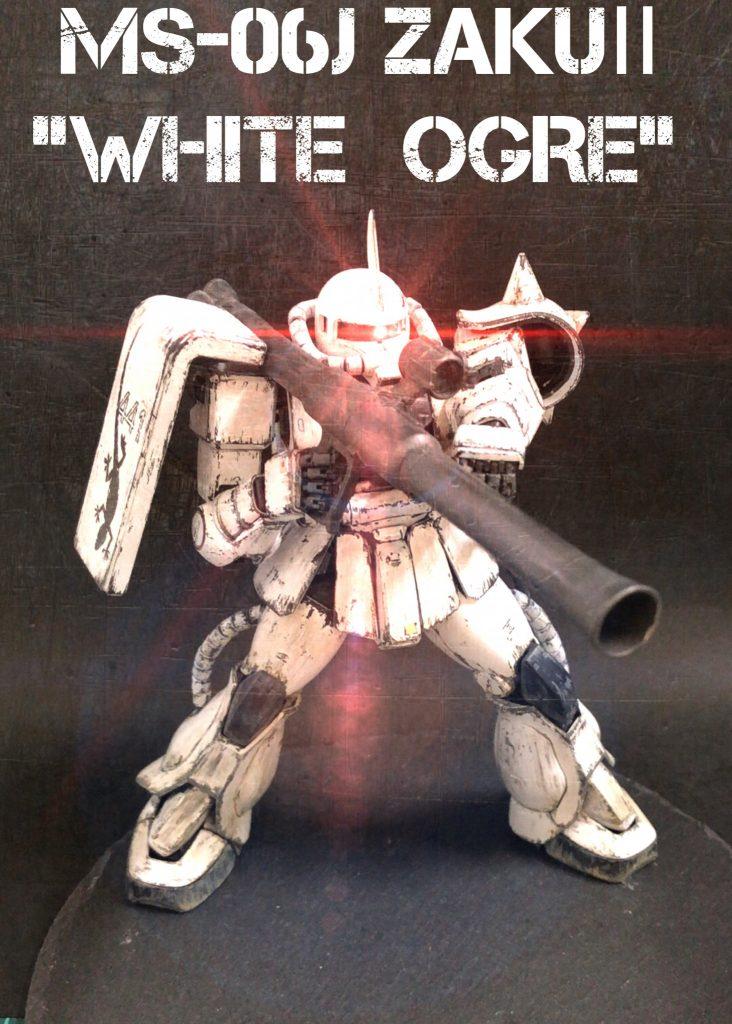 "MG MS-06J ZAKUⅡ ""WHITE OGRE"""