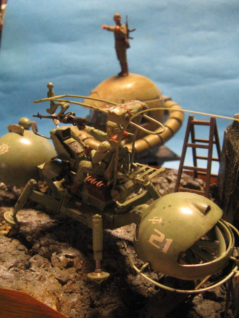 U.C.ハードグラフ No.1 1/35 ジオン公国軍 機動偵察セット使用なんちゃってジオラマ! アピールショット1