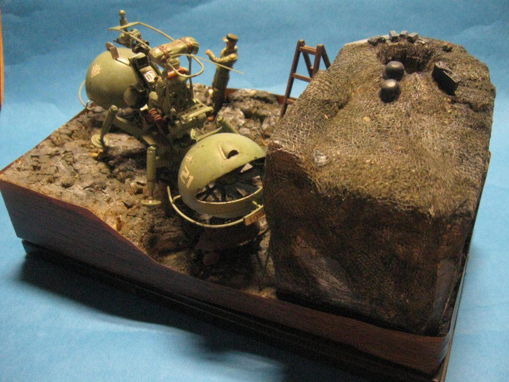 U.C.ハードグラフ No.1 1/35 ジオン公国軍 機動偵察セット使用なんちゃってジオラマ! 制作工程1