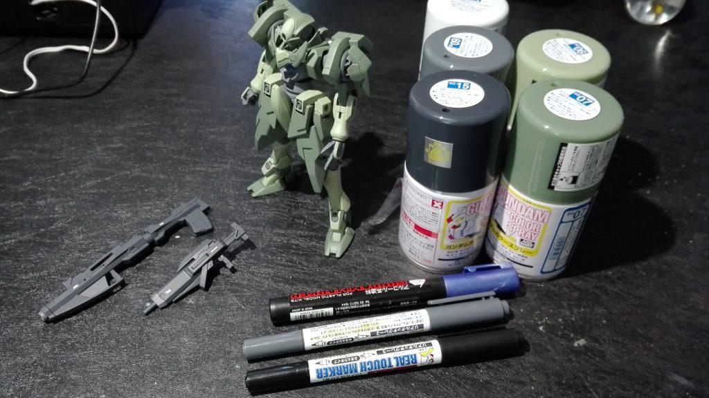 HG ジンクスⅣ(一般機) 制作工程1