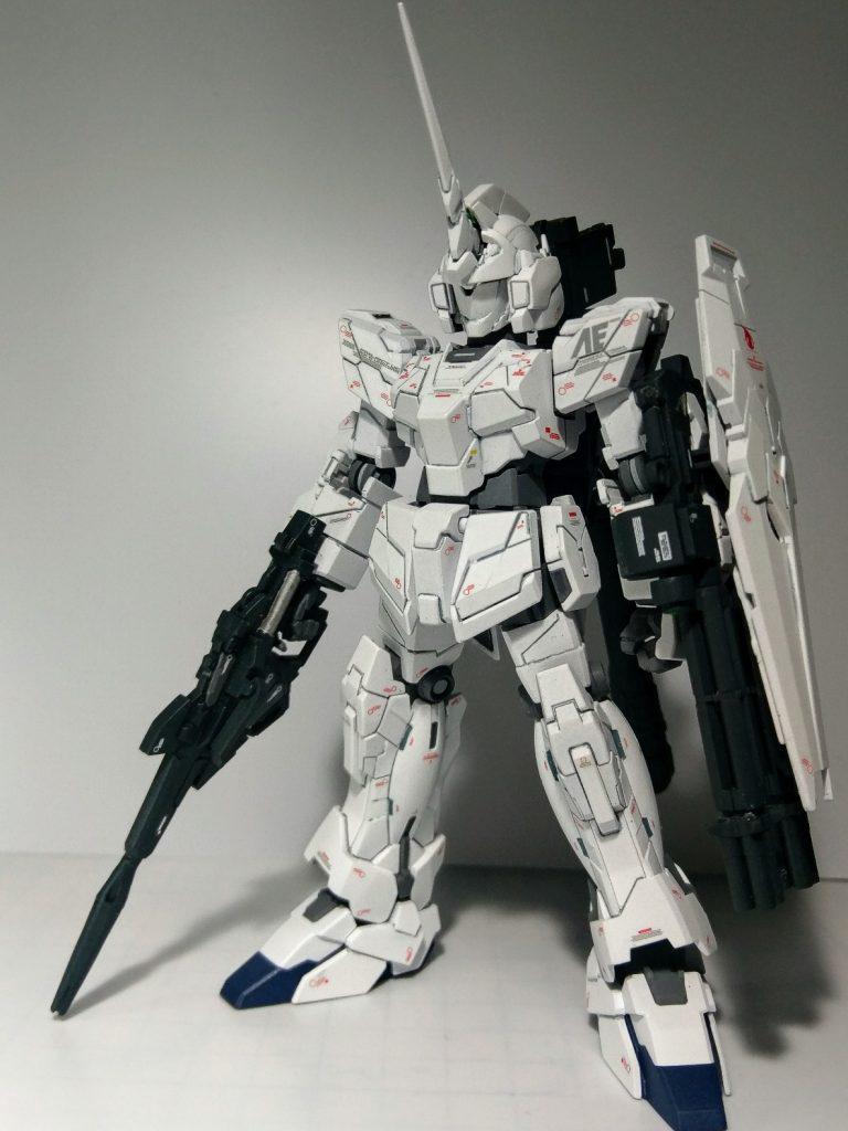 RX-0ユニコーンガンダム(ユニコーンモード) アピールショット1