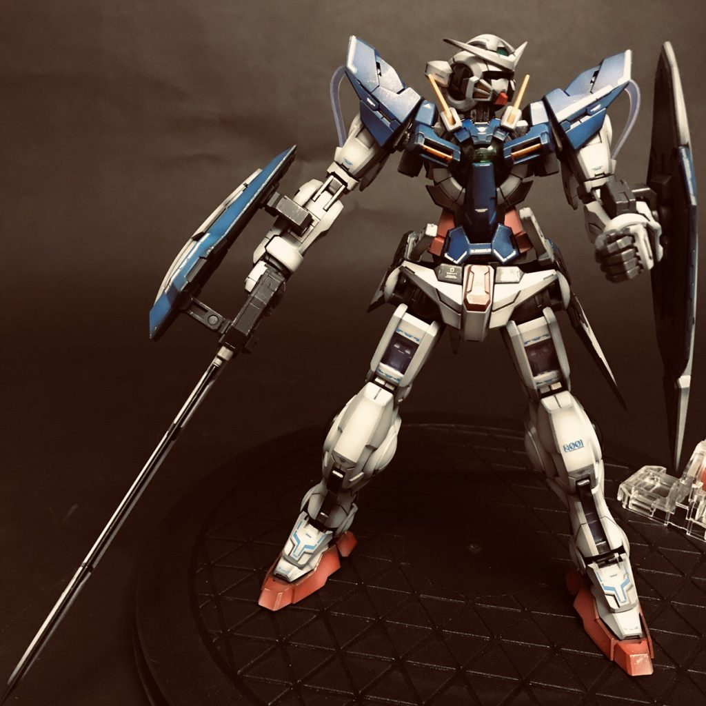 MG GUNDAM  EXIA CELESTIAL BEING MOBILE SUIT GN-001 制作工程1