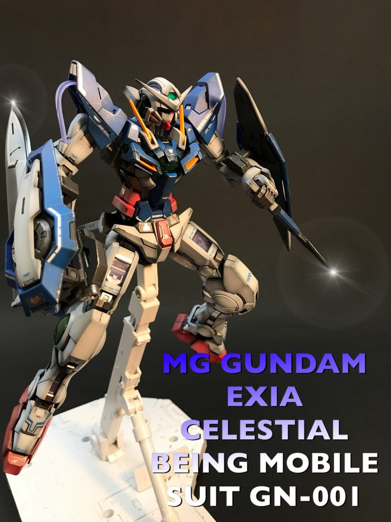 MG GUNDAM  EXIA CELESTIAL BEING MOBILE SUIT GN-001 アピールショット4