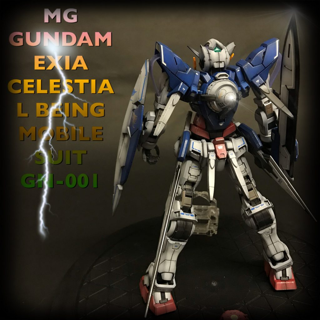 MG GUNDAM  EXIA CELESTIAL BEING MOBILE SUIT GN-001 アピールショット2