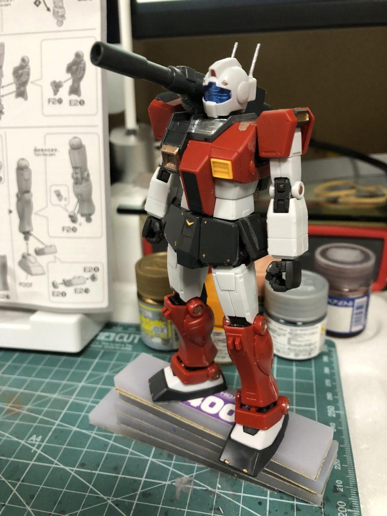 HGUC 1/144 ジム・キャノン (空間突撃仕様) 制作工程4