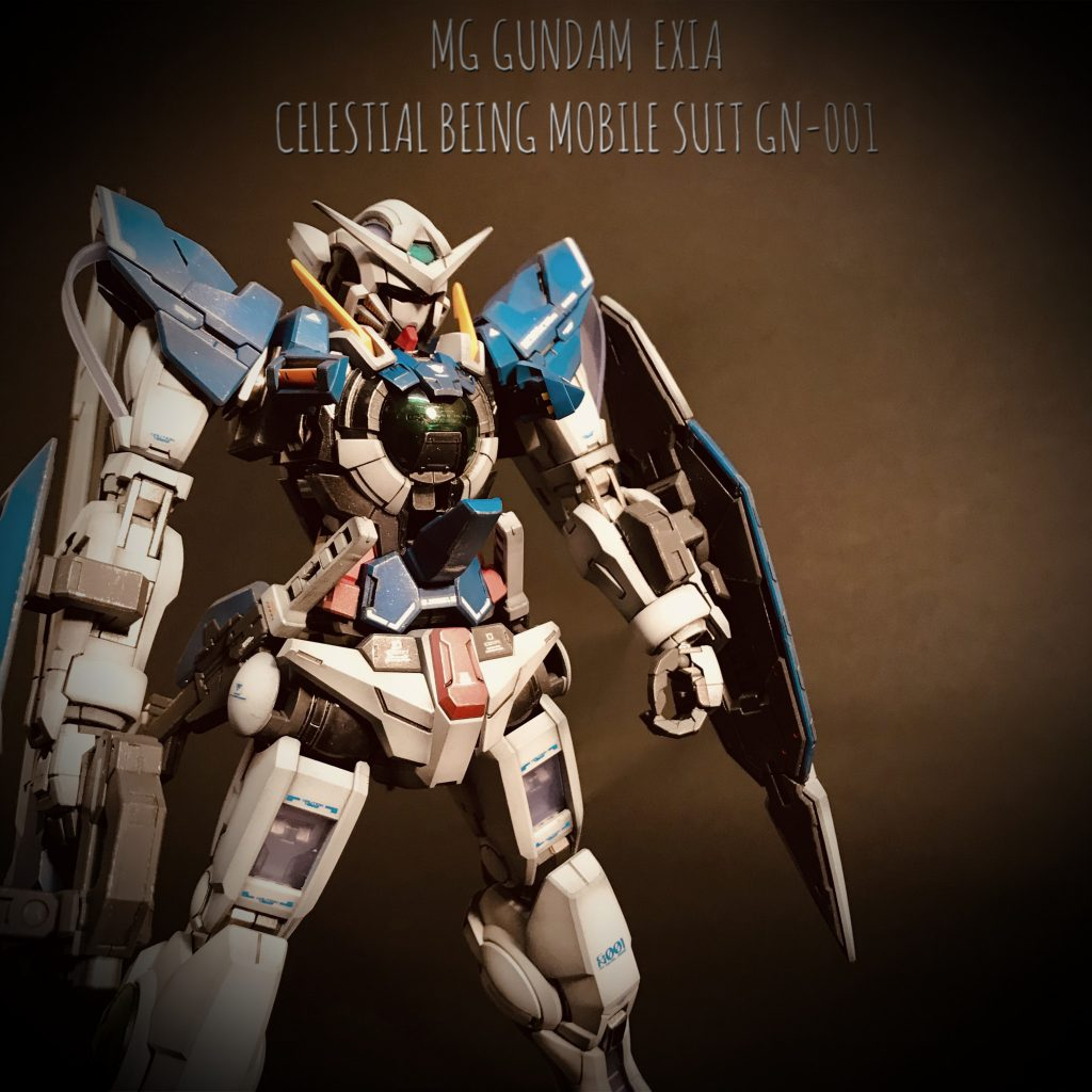 MG GUNDAM  EXIA CELESTIAL BEING MOBILE SUIT GN-001 アピールショット1