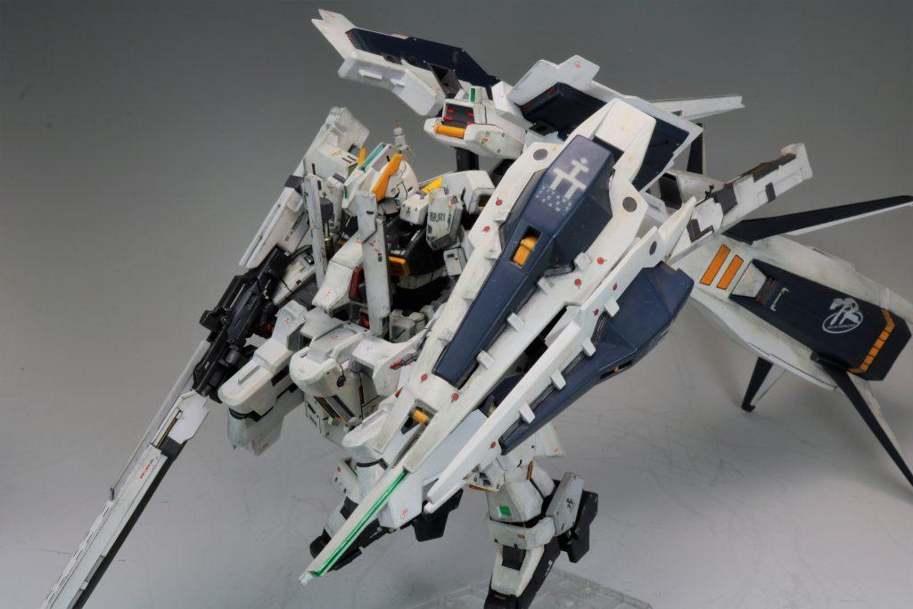 """RG ガンダムTR-1[ヘイズル・ラー]第二形態ブースター装備""""クルーザーモード"""" アピールショット3"""
