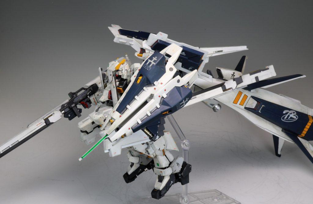 """RG ガンダムTR-1[ヘイズル・ラー]第二形態ブースター装備""""クルーザーモード"""" アピールショット6"""