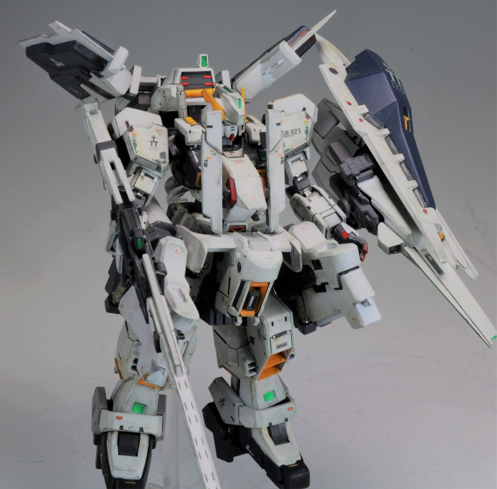 """RG ガンダムTR-1[ヘイズル・ラー]第二形態ブースター装備""""クルーザーモード"""" アピールショット7"""