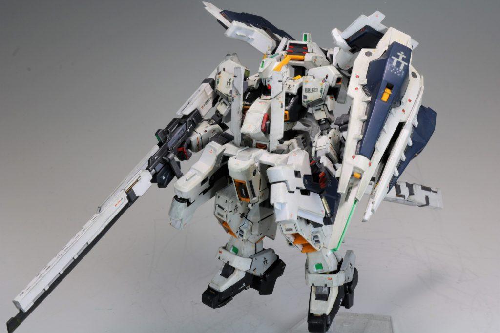 """RG ガンダムTR-1[ヘイズル・ラー]第二形態ブースター装備""""クルーザーモード"""" アピールショット8"""