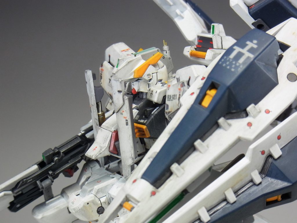 """RG ガンダムTR-1[ヘイズル・ラー]第二形態ブースター装備""""クルーザーモード"""" アピールショット4"""