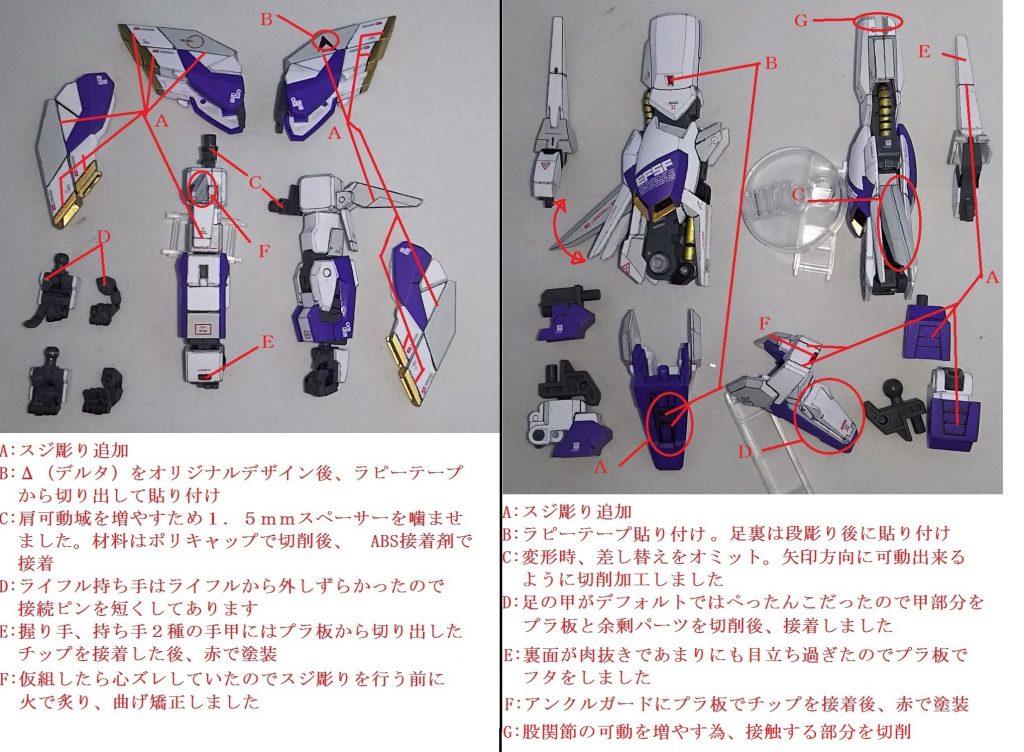 HG デルタカイ (改修・改造) 制作工程3