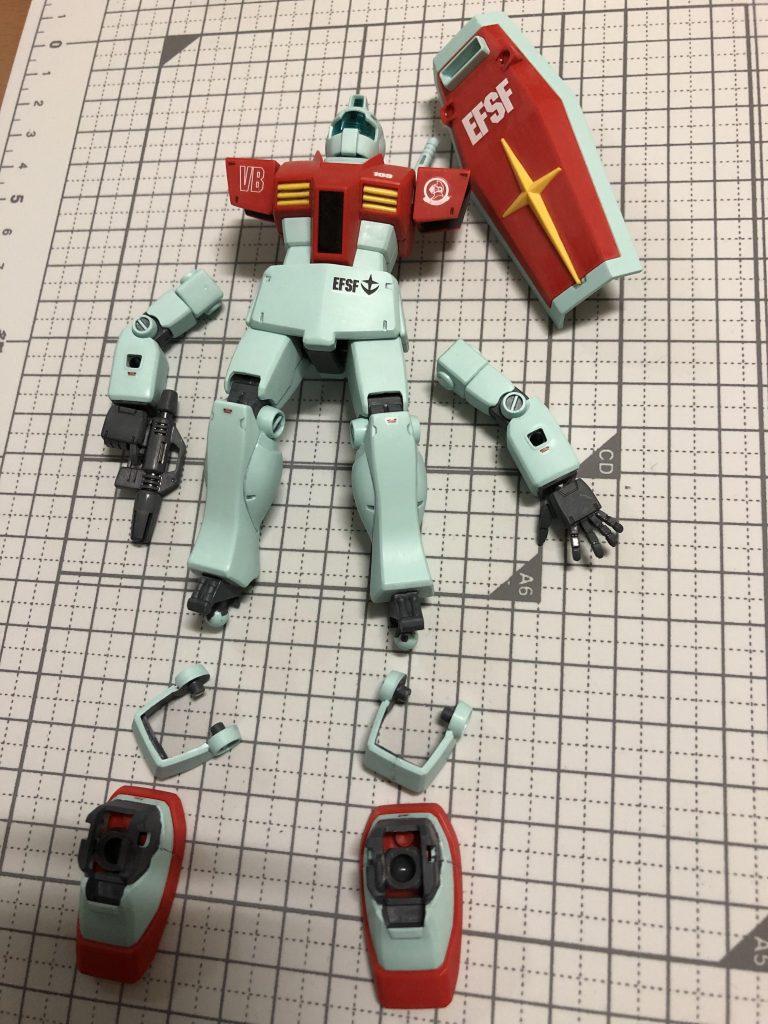 HGUC 1/144 RGM-79 ジム(ガンプラ製作1号機) 制作工程3