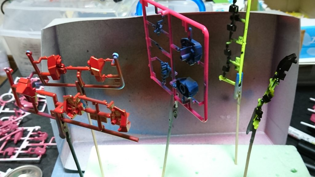 ベースガンダムオリジナルカラーver 制作工程2