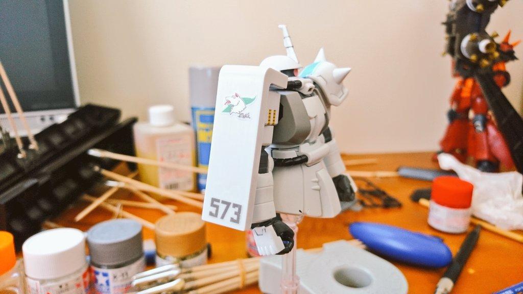HG MS-06R-1A ZAKUⅡ 制作工程4