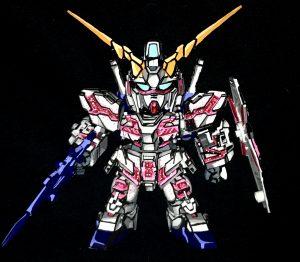 SDEX ユニコーンガンダム1号機 アニメイラスト風模型
