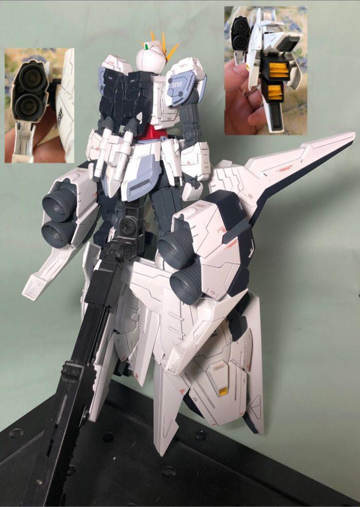 RX-9 ナラティブガンダムA装備 制作工程2