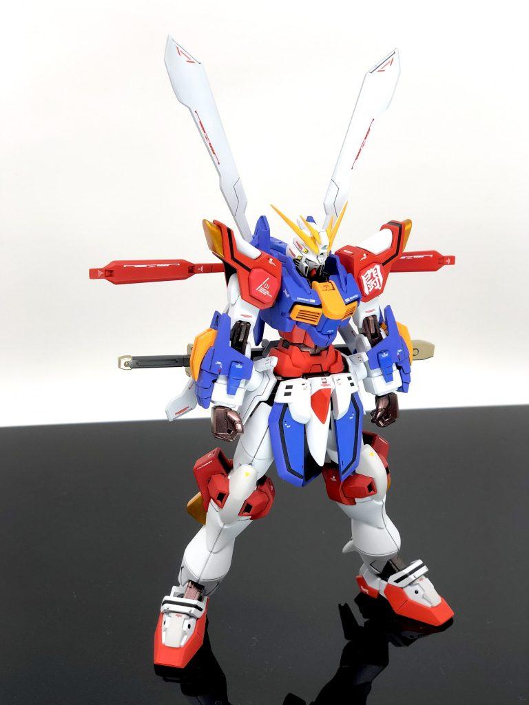 """""""闘神"""" ブレイジングゴッドガンダム アピールショット3"""