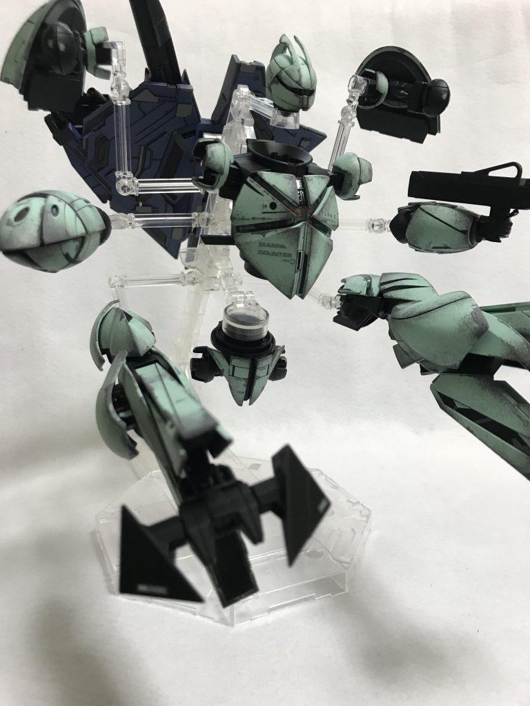 MG 1/100 CONCEPT-X6-1-2 ターンX ウェザリング 制作工程2
