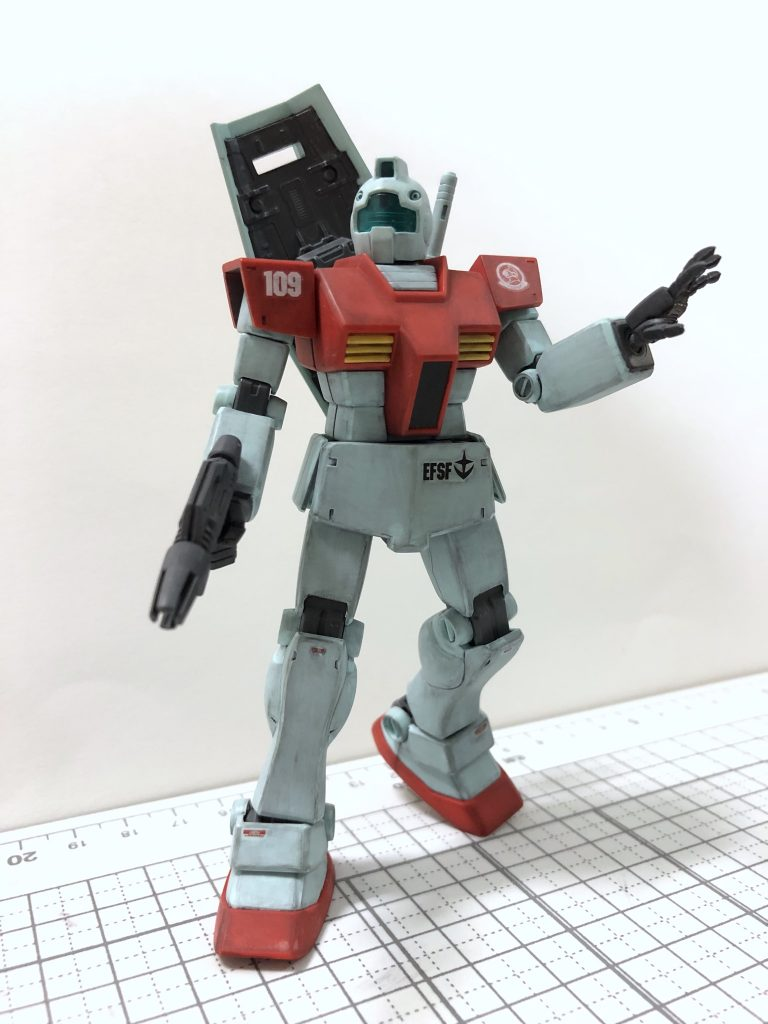 HGUC 1/144 RGM-79 ジム(ガンプラ製作1号機) アピールショット2