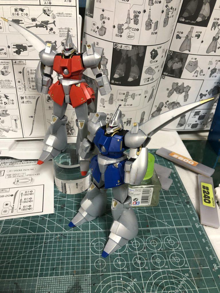 HG 1/144 ガズ R/L 制作工程5