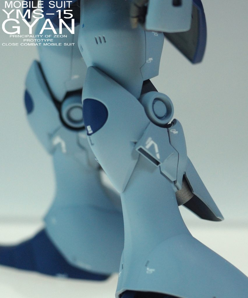 MGギャン改造塗装済み完成品 制作工程1