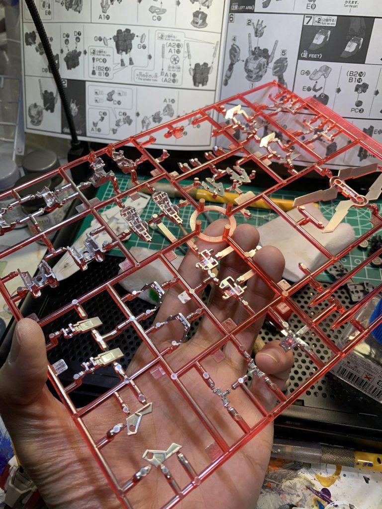HG ナラティブガンダム C装備 制作工程1