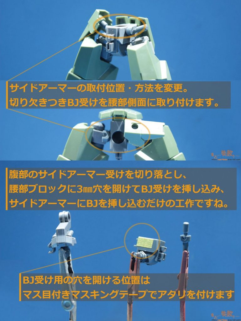 HG 南極6号G型(一般機/指揮官機) 制作工程2
