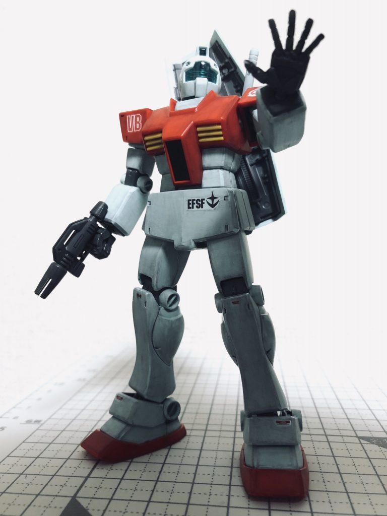 HGUC 1/144 RGM-79 ジム(ガンプラ製作1号機) アピールショット1