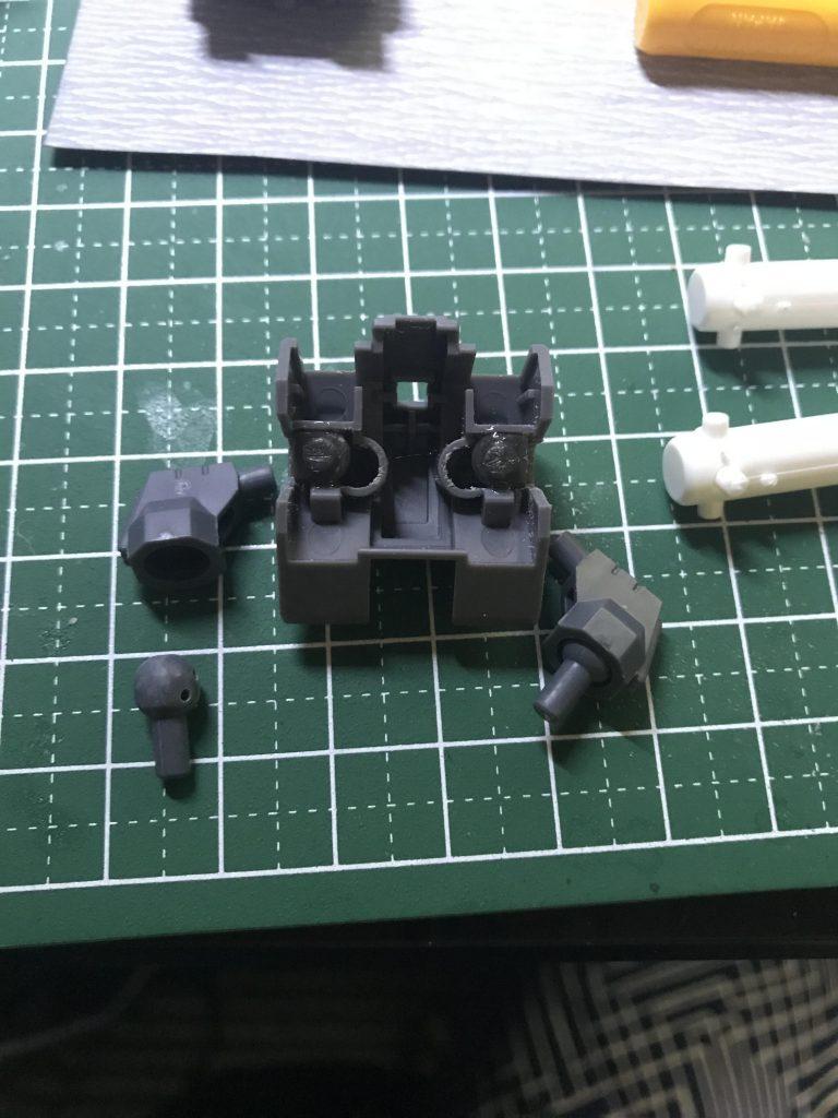 プロトサザビー サイコミュ兵装試験機 制作工程1
