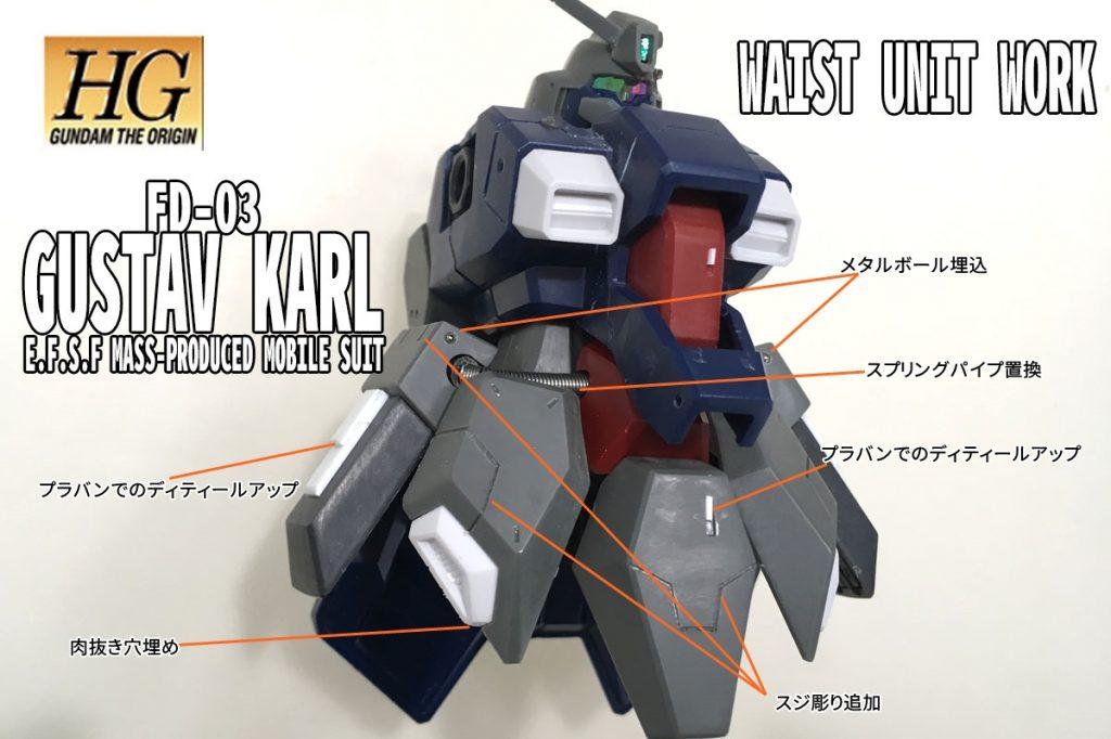 HGUC グスタフカール【閃光のハサウェイVer.】 制作工程3