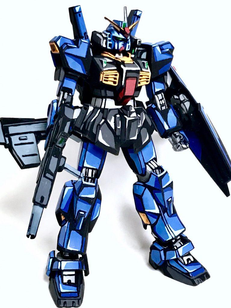 1/144 ガンダムMarkⅡ ティターンズ アニメイラスト風模型 アピールショット1