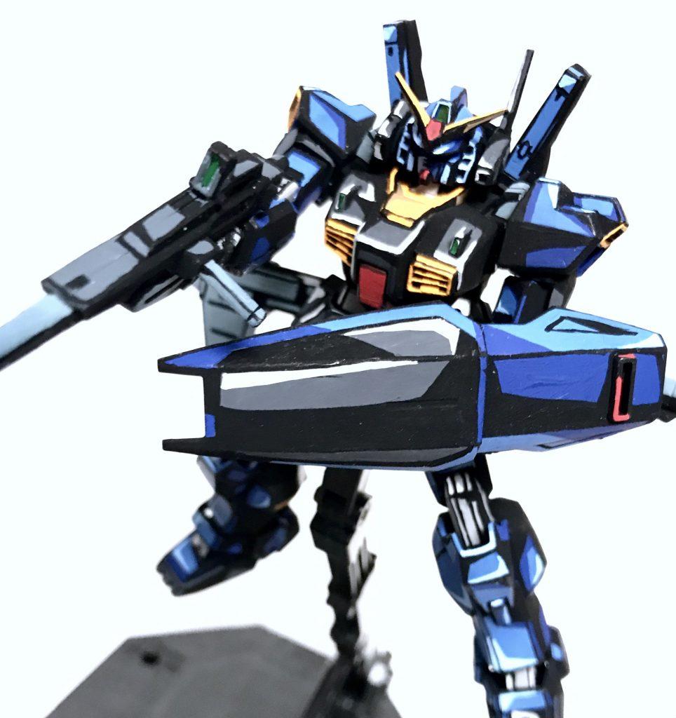 1/144 ガンダムMarkⅡ ティターンズ アニメイラスト風模型 アピールショット3