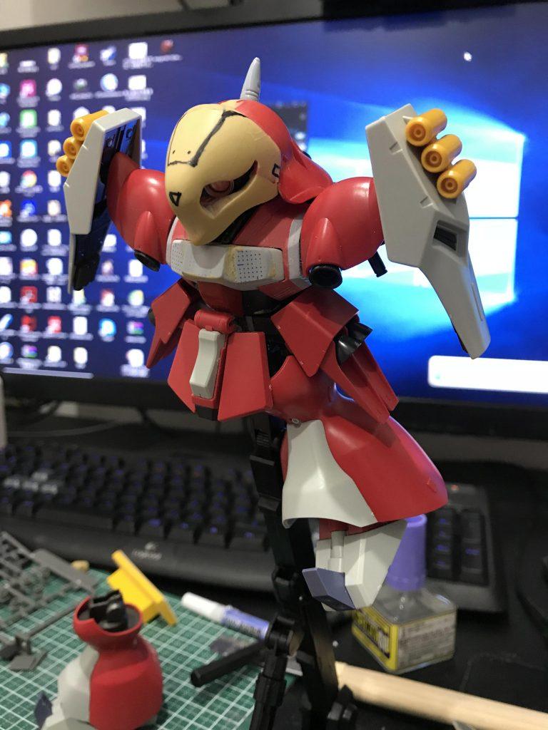 SD ヤクト・ドーガ クェス機 制作工程4