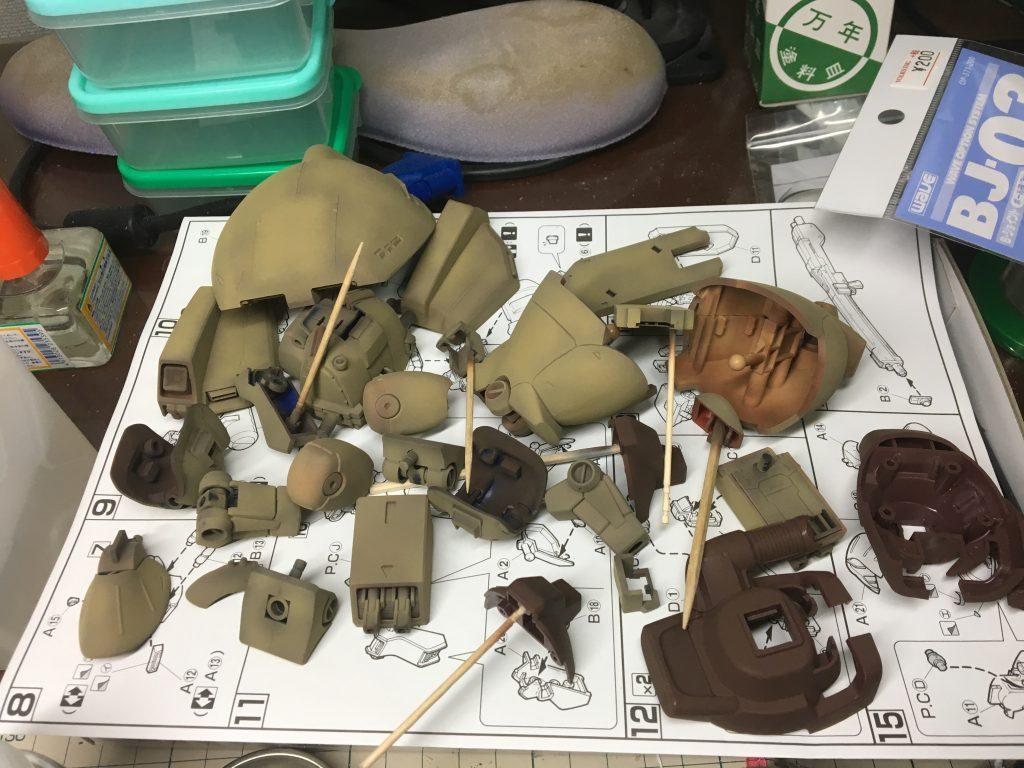 HGUC ゼクアイン 陸戦型 制作工程5